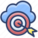 cloud aim, cloud computing, cloud focus, cloud hosting, cloud target icon