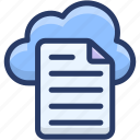 cloud app, cloud computing, cloud data hosting, cloud document, cloud file icon