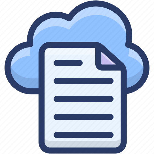cloud app, cloud computing, cloud data hosting, cloud document, cloud file icon