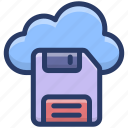 cloud computing, cloud disk, cloud network, cloud services, cloud storage, cloud technology icon