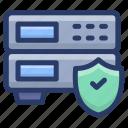data hosting, data server safety, data storage, datacenter protection, dataserver protection, server protection protection icon