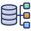 shared database hosting, shared server, sql database, sql server, web hosting icon