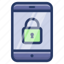 mobile lock, mobile password, mobile safety, smartphone lock, smartphone protection icon