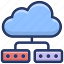 cloud computing, cloud hosting, cloud network, cloud network sharing, cloud services, cloud technology icon