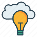 cloud, idea, light icon