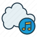 cloud, database, music