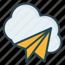 paperplane, send, storage icon