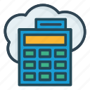 accounting, calculator, server icon