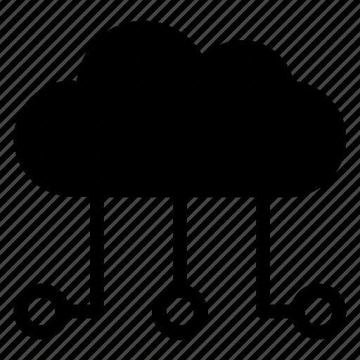 cloud, computing, internet, server, upload icon