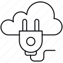 adapter, cloud, connector, plugin icon