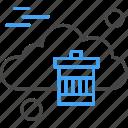 bin, cloud, computing, recycle