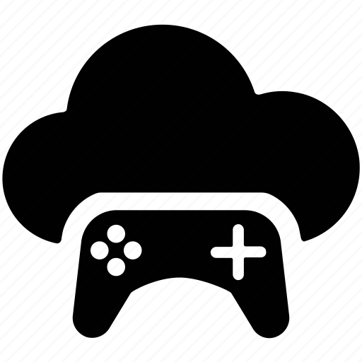 cloud and gamepad, cloud game, cloud with game control, cloud with gamepad, cloud with joystick icon