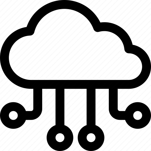 clients, cloud, computing, connections, data, flow, storage icon
