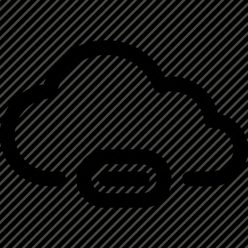 cloud, computing, data, download, loading, progress, storage icon