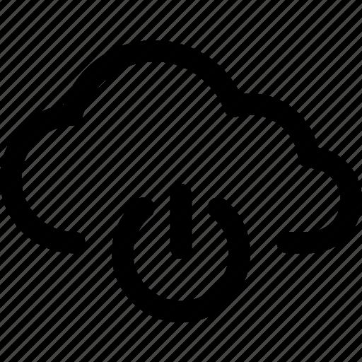 cloud, computing, data, internet, power, standby, storage icon