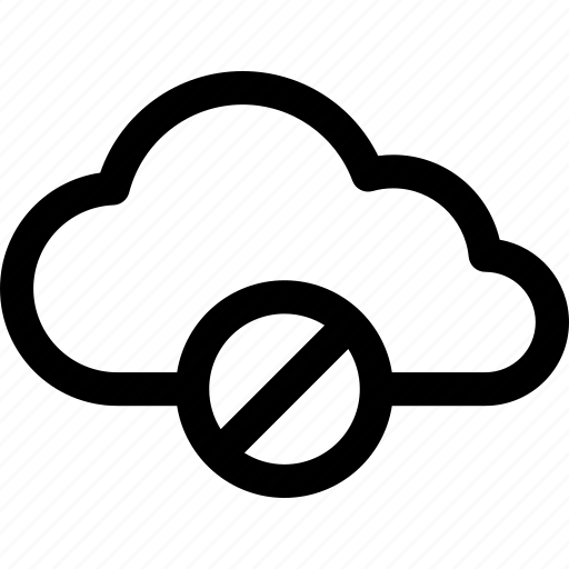 cloud, computing, data, internet, rejected, storage, unavailable icon