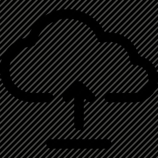 cloud, computing, data, file, internet, storage, upload icon