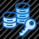 data, database, security, storage, technology icon