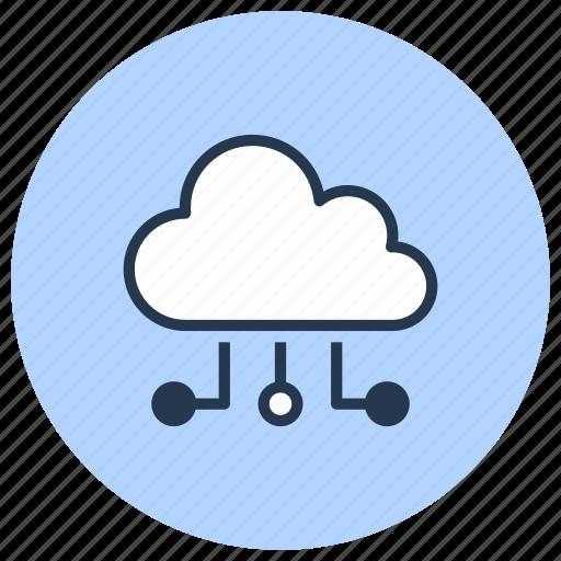 cloud, computing, data, internet, server, technology icon