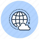 cloud, data, global, internet, network, technology icon