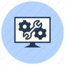 administration, computer, data, repair, service, technology icon