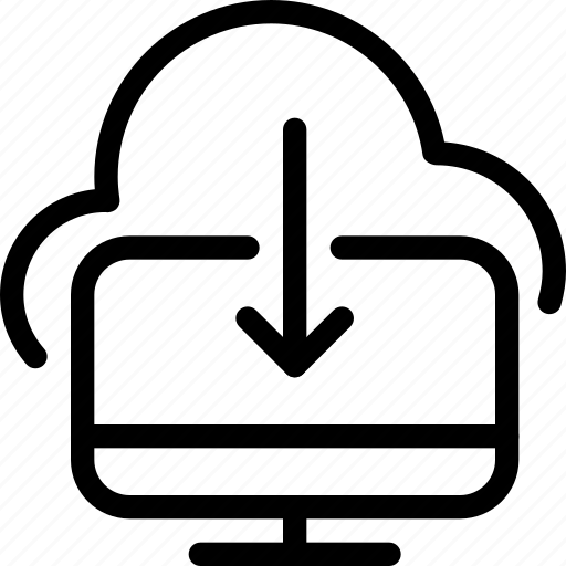 cloud-computing, cloud-to-computer, computer, computer-download, desktop, download, storage icon