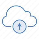 add, cloud, guardar, hosting, network, save, server, upload icon