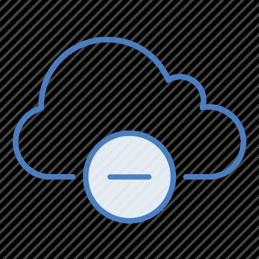 cloud, delete, hosting, minus, network, remove, server icon