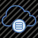cloud, database, hosting, network, server