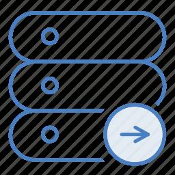 add, arrow, cloud, hosting, network, server, upload icon