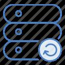 cloud, hosting, network, refresh, reload, server icon