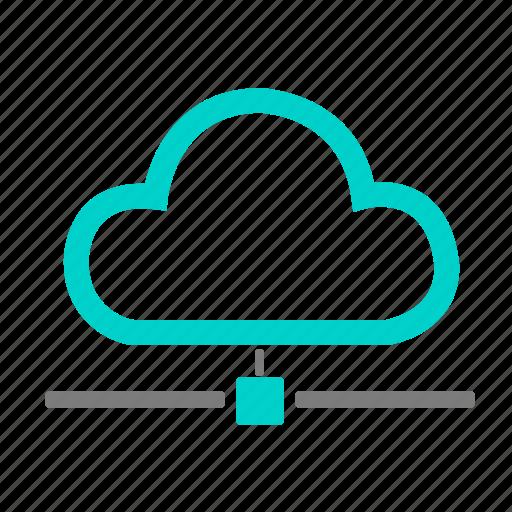cloud, communication, data, ecommerce, internet, money, network icon