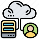 cloud, combination, connection, hybrid, management icon