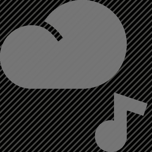 audio, cloud, music icon