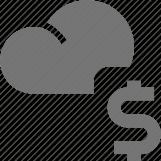 cloud, dollar, money icon