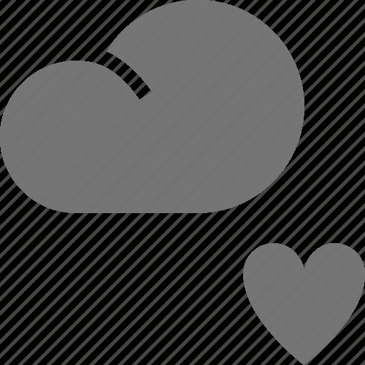cloud, favorite, heart, like icon