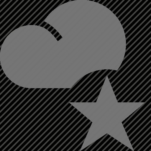 cloud, favorite, star icon
