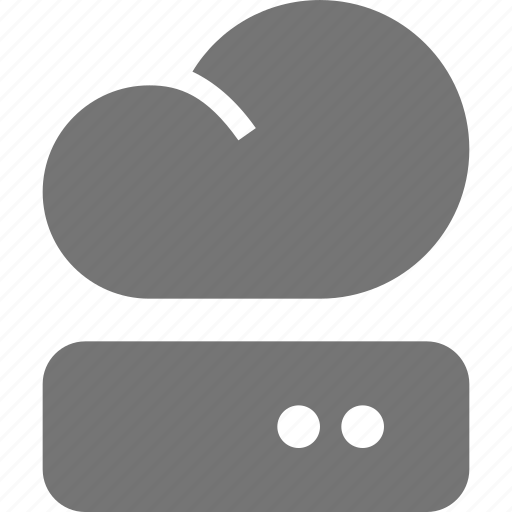 cloud, harddisk icon