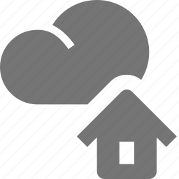 cloud, home, house icon