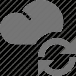 arrows, cloud, refresh, reload, sync icon
