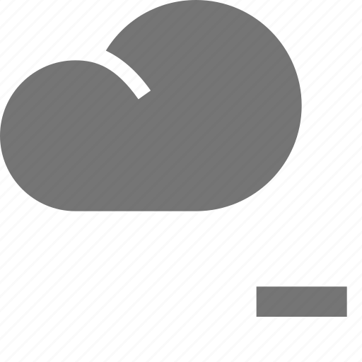 cloud, minimize, minus icon