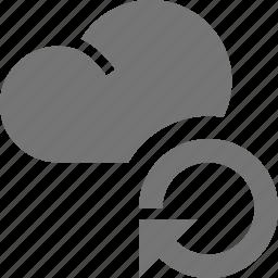 arrow, cloud, refresh, reload, sync icon