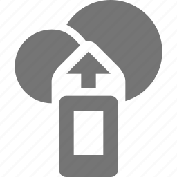 arrow, cloud, device, mobile, up, upload icon