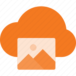 cloud, computing, image icon