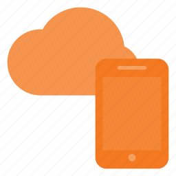 cloud, computing, phone, syncronize icon