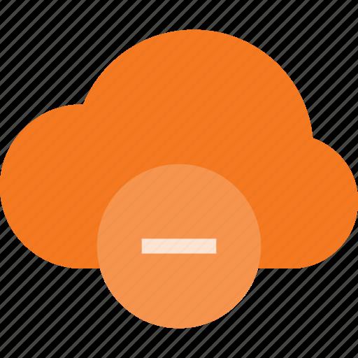 cloud, computing, minus, remove icon