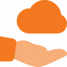 care, cloud, computing, protect, share icon