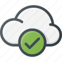 check, cloud, computing icon