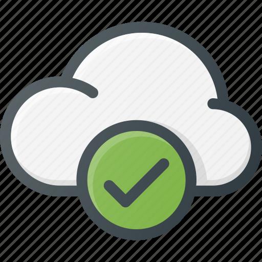check, cloud, computing icon