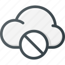 cloud, computing, disable, error icon